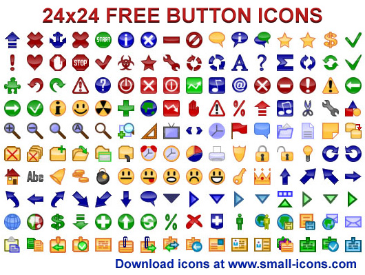 Click to view 24x24 Free Button Icons 2011.1 screenshot