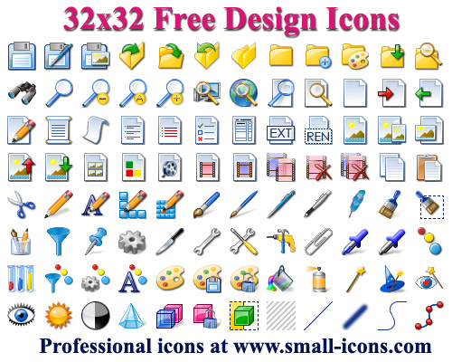 32x32 Free Design Icons Screen shot