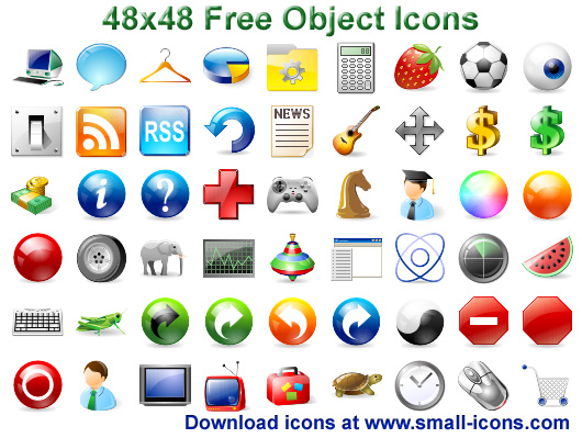 48x48 Free Object Icons Screen shot