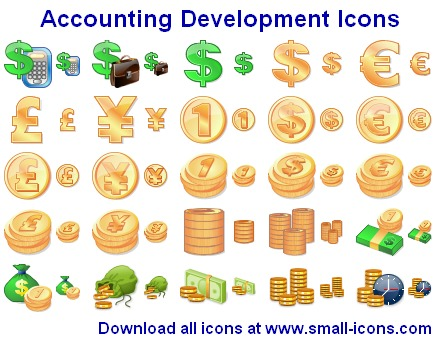 Accounting Development Icons