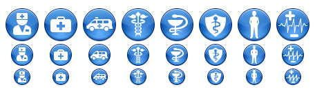 Blue Medical Icons