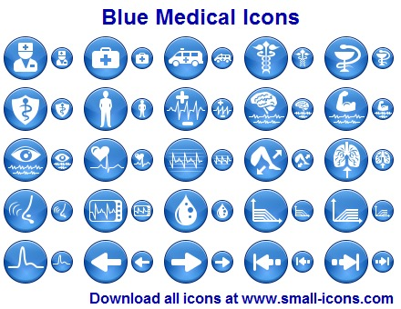 Blue Medical Icon Pack 2012 full