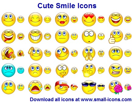 Click to view Cute Smile Icons 2013.1 screenshot