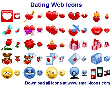Click to view Dating Web Icons 2013.1 screenshot