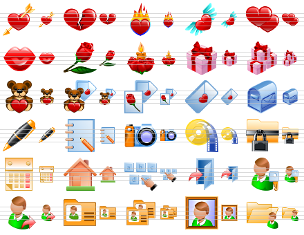 Dating site icons - Match Profi Free Large Love Icons webDate