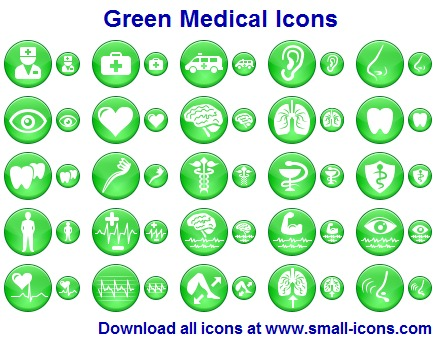 Click to view Green Medical Icons 2011.1 screenshot