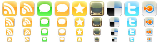 iPhone Style Social Icons
