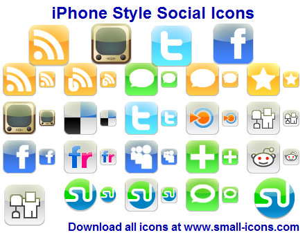 iPhone Style Social Icons full screenshot