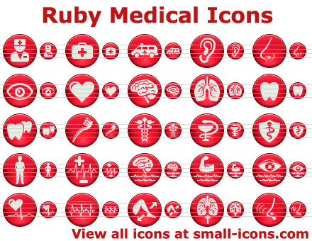 Click to view Ruby Medical Icons 2013 screenshot