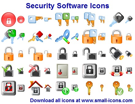 Security Software Icons Screen shot