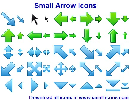 Windows 7 Small Arrow Icons 2013.1 full