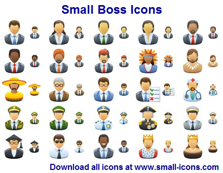 icon, set, icon set, boss, chief icons, boss icon set, boss icons, small boss