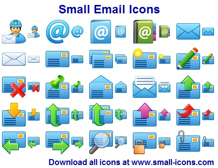 Small Email Icons
