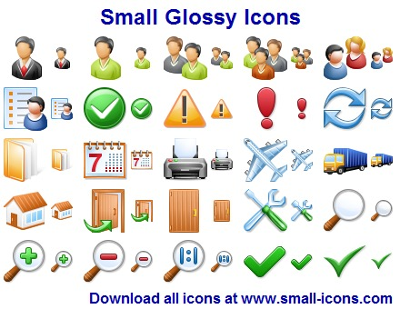 Small Glossy Icons