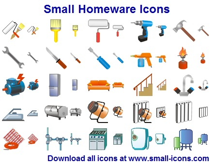 Small Homeware Icons screenshot