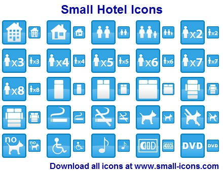 Click to view Small Hotel Icons 2013.1 screenshot