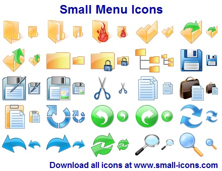 60 attractive icons for toolbars and menus