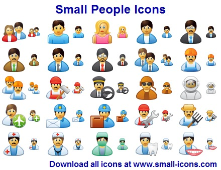 Click to view Small People Icons screenshots