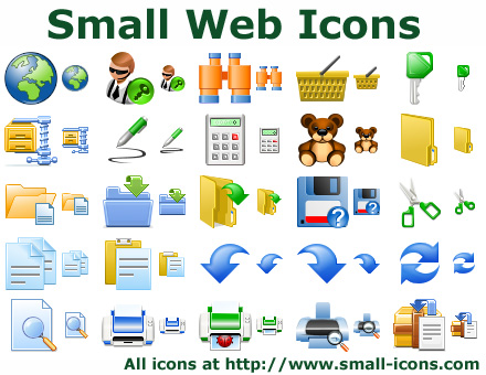 Small Web Icons - icon, set, icon set, PNG, toolbar, PNG icons, small icons, clipart, small icons, small PNG icons, toolbar icons, small icon collection, basic toolbar icons, interface icons, ui icons - A collection of top-quality Small Web Icons and clipart for your site