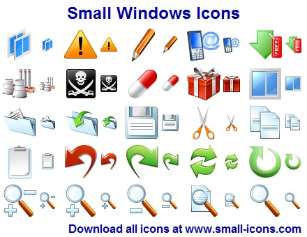 Small Windows Icons