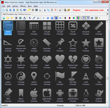 Make icons and buttons for Windows 8 apps